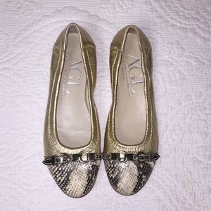AGL Leather Ballet Flat Shoes size 38 1/2
